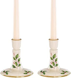 Lenox Holiday Archive Candlestick Pair Holder