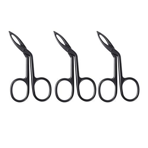 Minkissy 3Pcs Pince à épiler pour sourcils sculptés à pointe droite Pince à épiler droite Dentelle droite Hairgripping Pince à sourcils