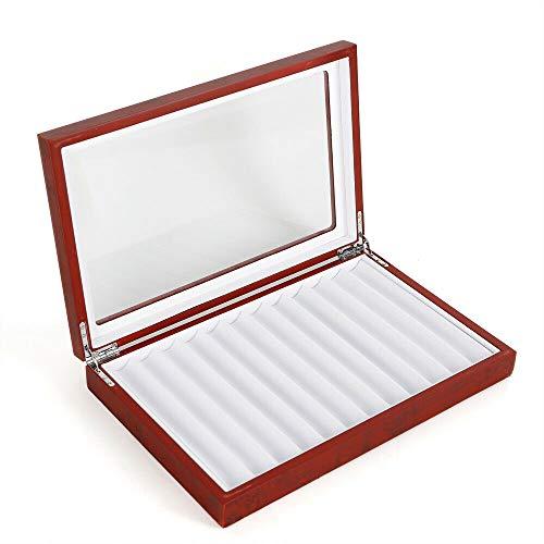 ペンケース 筆箱 ペン立て 赤い木製万年筆ボックス万年筆収納ディスプレイ ペン立て 父の日