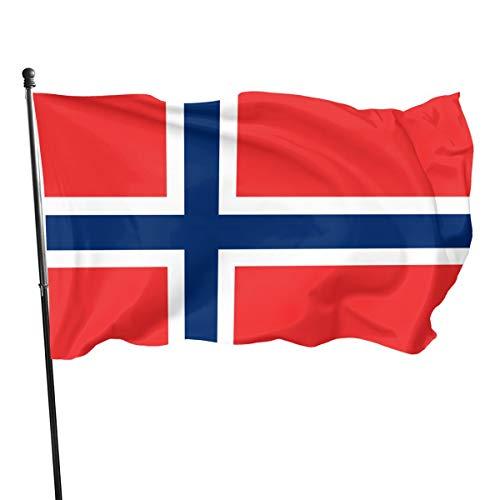 Noorse vlag (de Union Jack) 3 X 5 Ft (150x240cm) Polyester -Levendige kleur en dubbele gestikte nationale vlaggen 100% Polyester Banner voor buiten