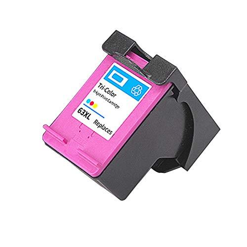 Cartucho de tinta remanufacturado de repuesto adecuado para impresora HP63XL, para impresora 2130 3630 3830 Officejet 4520 4650 1* color