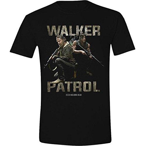 The Walking Dead Walkers Patrol, T- T-Shirt Homme, Noir (Black), Large