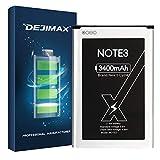 DEJIMAX Batería para Samsung Galaxy Note 3, 3400mAh batería de Alto Capital con NFC para NOTE3/N900A/N9000/N9005/N900/N9002