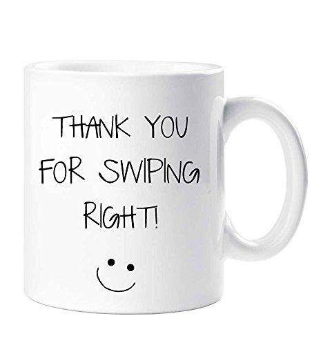 Thank You for Swiping Right Mug Boyfriend Husband Girlfriend WifeValentines Birthday...