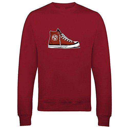 Ice-Tees Anarchy Basketball-Sweatshirt für Jungen Gr. 12-14 Jahre, rot