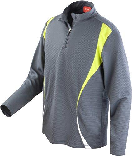 Spiro pour Homme d'essai d'entraînement Tops Large Charcoal/Lime/White