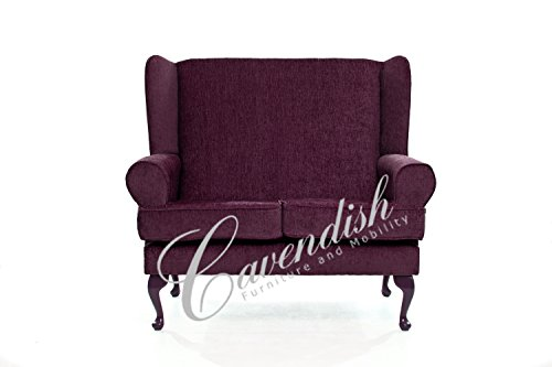 Cavendish Furniture Ciruela sofá de Dos plazas, Rojo