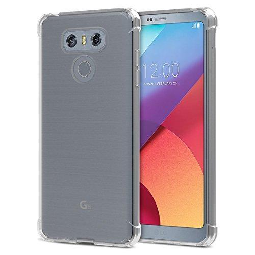 TIYA Funda para LG G6 y Plus Carcasa Bumper,Shock-Absorción TPU Transparente con Cuatro Esquinas…
