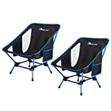 MOON LENCE Backpacking Chair Outdoor Camping Chair Compact Portable Folding Chairs with Side Pockets Packable Lightweight Heavy Duty for Camping Backpacking Hiking …