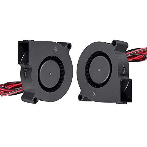 Furiga Ventola per stampante 3D 5015 24V Ventola 50X50X15mm Ventola da 30 cm per estrusore Dissipatore di calore 2PCS