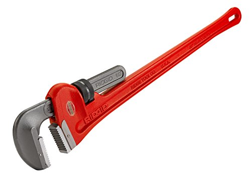 RIDGID 31045 Model 60 Heavy-Duty Straight Pipe Wrench, 60-inch Plumbing Wrench