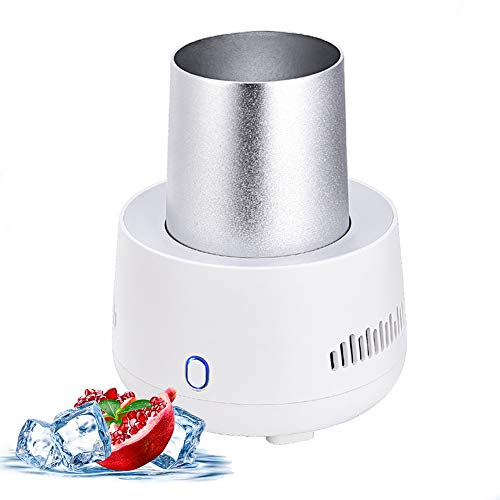 USB Fast Cooling Cup for Home/Office/Car, 37℉ Electric Cup Cooler Desktop Mini Drink Chiller for...