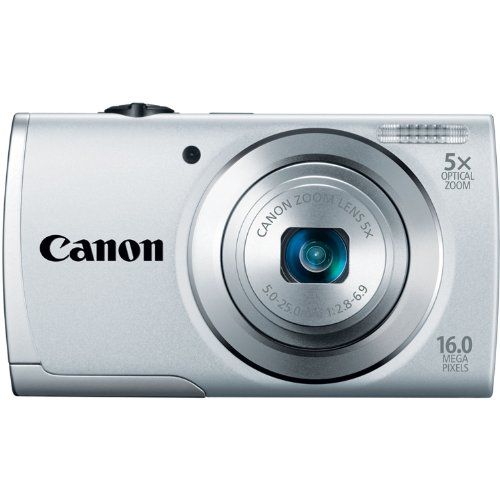 Canon PowerShot A2500 16MP Digital Camera with 5x Optical Image Stabilized Zoom with 2.7-Inch LCD...