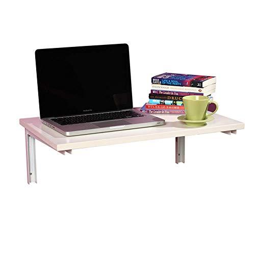 ZND vouwen eenvoudig idee wandmontage tabel eenvoudig idee Laptop tafel boekenplank huis massief hout klapboard, 2 kleuren, 2 maten, wit,