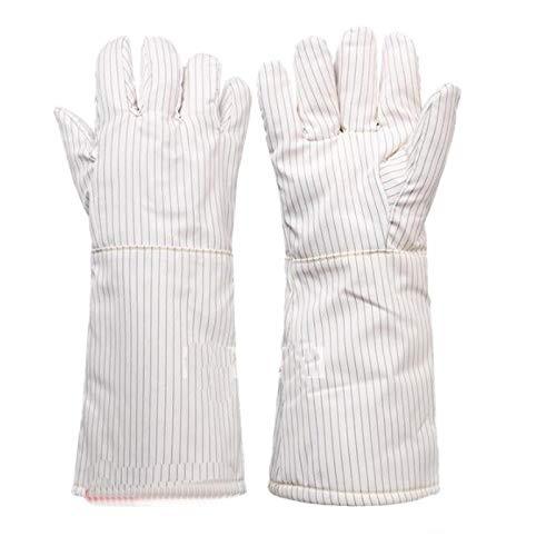 zhangmeiren Staubfreie Und Hochtemperaturbeständige Handschuhe, Wärmeisolierend, Antistatisch, Keine Krätze, Reinraum (Color : White40cm)