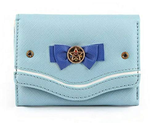 Cartera Corta De Sailor Moon (Ligth Blue)
