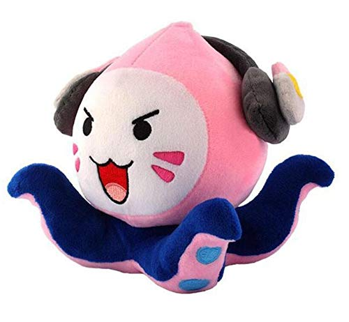 LANCOLD Kawaii Small Squid Stuffed Plush Toy Soft Stuffed Animal Doll Cosplay Kids Toy Gifts Game Figure£¬18cm(7.08 inch)