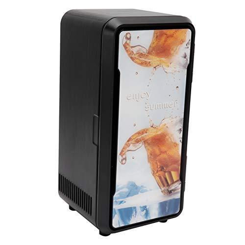 Mini frigorifero scaldino, frigorifero portatile a raffreddamento rapido di piccole dimensioni con design a porta singola, per ufficio o dormitorio Cosmetici per la casa(Standard black 18w)