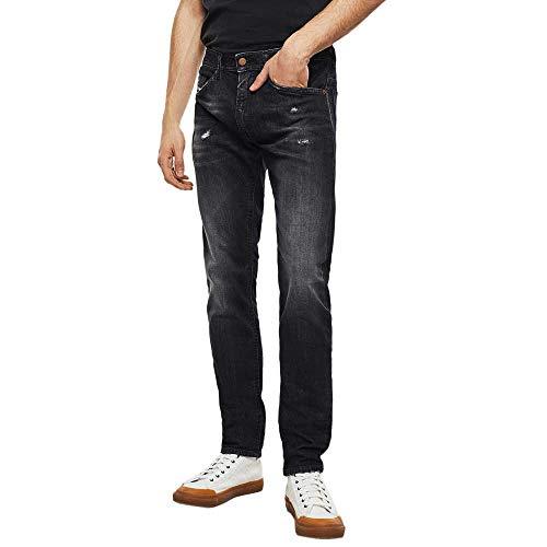 Diesel Herren Thommer-X Jeans, 02 Black Denim 95R, 34W / 30L