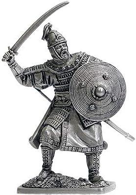Golden Horde Tin Soldiers Metal Sculpture Miniature Collectible Figurines 40 mm (Scale 1/32) (Unpainted, Horde-01)