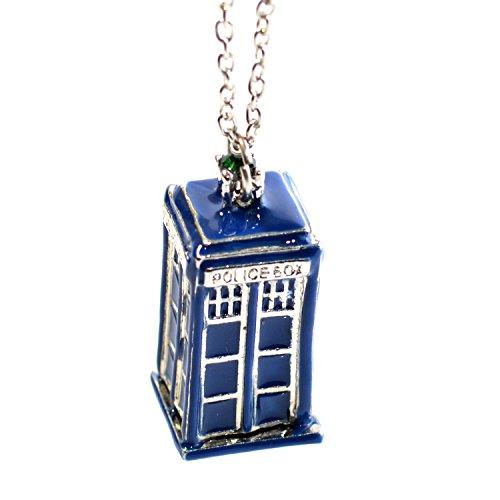 Blue Tone Tardis Der Doktor Polizei-Charme-hängende Halskette