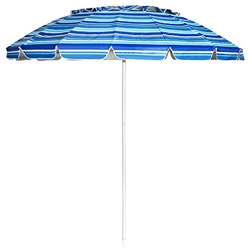 ombrellone da spiaggia salvaspazio RELAX4LIFE Ombrellone da Spiaggia e Esterno 243 cm