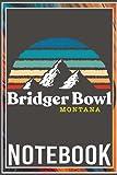 Notebook: Bridger Bowl Montana - USA Ski Resort 1980s Retro Premium 100 page 6x9 inch