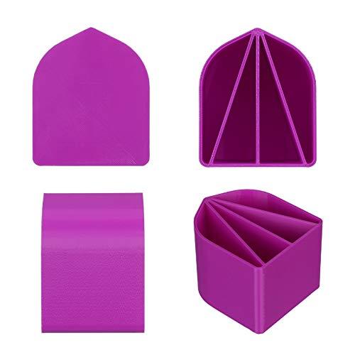 JIJK 8oz Acrylic Paint Pour Split Cup, 4 Channels Pouring Cup, Multi-Channel Acrylic Paint Pour Cup,Bio-degradable Paint Pouring Multi Channel Set, Fluid Art Pour Supplies