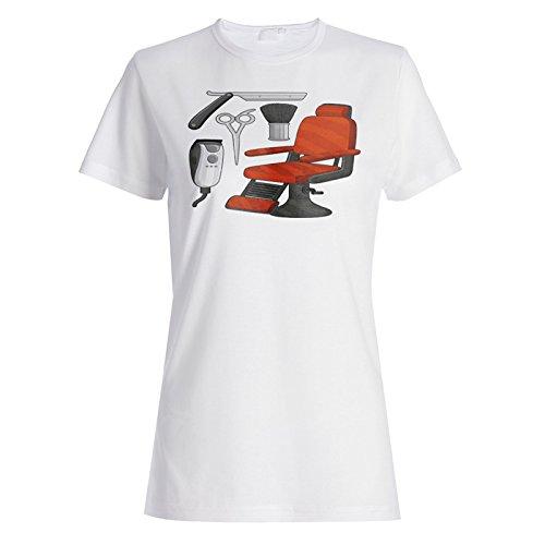 INNOGLEN Pelo De Silla De Peluquero Camiseta de Las Mujeres p145f