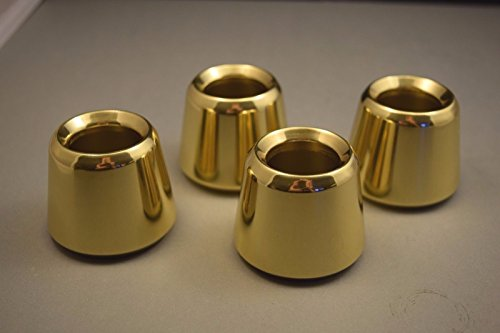 Set of 4 Solid Brass 1 1/2' Church Candle Followers