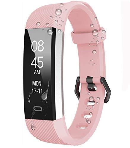 Aktivitätstracker Schrittzähler Uhr für Damen Kinder Herren, Smart Watch mit Pulsuhren Schlafmonitor, Wasserdicht Fitness Armband Fitness Uhr Anruf SMS SNS Beachten für Ios Android Handy
