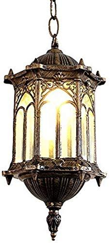 JIAN Exquisite Lighting ZjNhl kroonluchter, waterdicht, eenvoudig, buiten, roestvrij, retro, balkon, trap, gang, veranda, paviljoen, hanglampen, patio, hanglampen, landschap, tuin, buitenverlichting