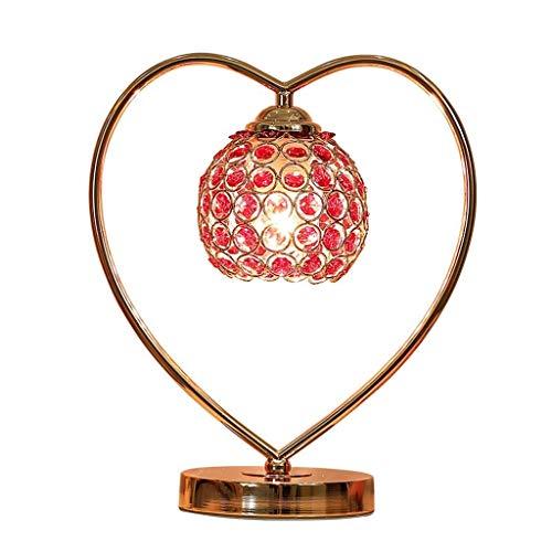 GUOCAO Luz Iluminación decorativa, Reading lámpara- de noche y en forma de corazón Lámparas de mesa lámpara de cristal de la lámpara de la sala de estar dormitorio lámpara de cabecera moderna simple r