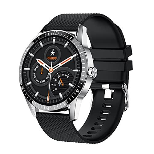 Smart Watch, Círculo Completo De Los Hombres, Llamada Bluetooth, Dial Personalizado, Monitoreo De Salud Deportivo Pulsera Inteligente Impermeable para Android iOS,D