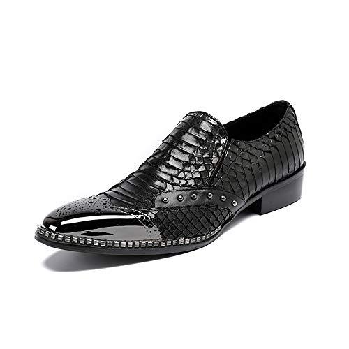 Heren Schoenen, Lederen Embossed Sets van Voeten Zakelijke Casual Britse Black Iron Head Laag om te helpen Mode Wild Formele Wear Street Fashion Schoenen