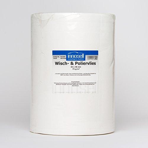 Vellón Gamuza pulir la Industria Wiper rollo con 400abrissen (40x 38cm) 75g/m2