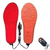 LEPSJGC Unisex eléctrico calefacción con calefacción plantillas calentador de pies 1800mAh batería recargable plantillas de calentamiento zapatos zapatos almohadilla (Color : Red, Size : 35 yards)