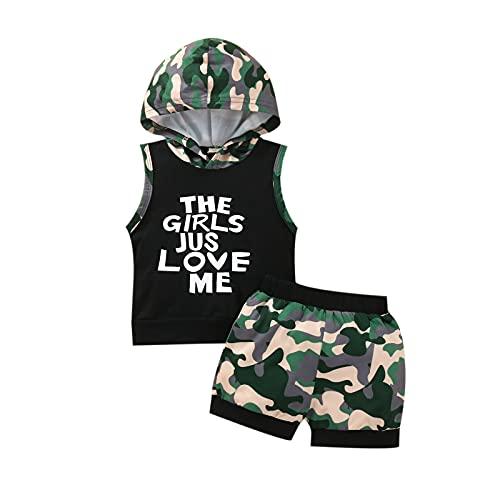 2 unids 100% algodón verano ropa carta chaleco camiseta Tank Tops playa pantalones jersey sudadera con capucha