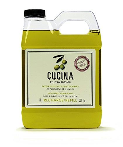 CUCINA Fruits & Passion Hand Soap - Coriander & Olive Tree, 33.8OZ 1L - Refill