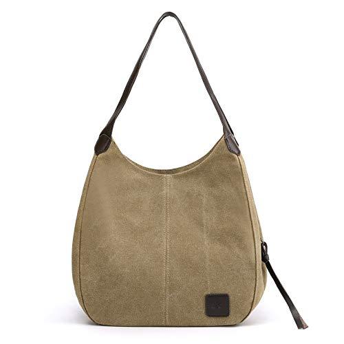 CMZ Rucksack, Segeltuchtasche, Frauentasche, einfach und vielseitig, Damen Retro Art Casual Bag, einfarbige tragbare Umhängetasche mit großer Kapazität