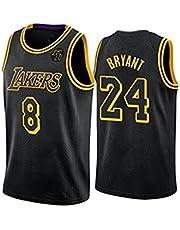 Black Mamba mannen Basketbal Jersey, Lakers 8#24# NBA Herdenkingseditie Mesh Ademend Geborduurde Fan Basketbal Jersey