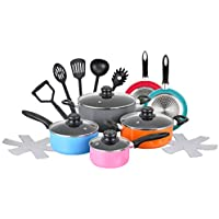 17-Pieces Chef's Star Nonstick Pots and Pans Cookware Set