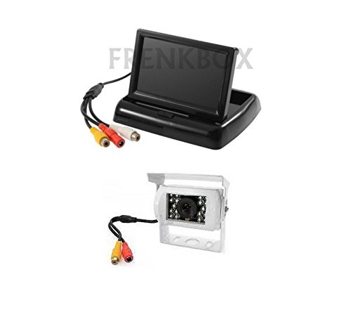 Frenkbox Kit retromarcia per Camper Telecamera Senza Fili WiFi Monitor 4,3 richiudibile