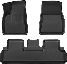 TAPTES Floor Mats for Tesla Model 3, Premium All Weather Anti-Slip Waterproof Floor Liners Car Interior Accessories - Compatible with Model 3 2017 2018 2019 2020 2021 (3 Pieces/Set)