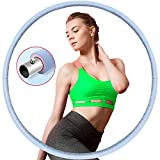 Hula Hoop - Pneumatico per fitness, adulti, in acciaio inox, con imbottitura gommapiuma, principianti, sport,...