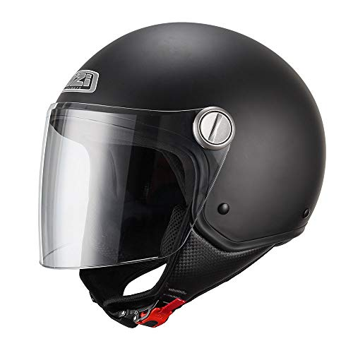 NZI 150263G067 Capital Visor Casco de Moto, Color Negro Mate, Talla M(57-58)