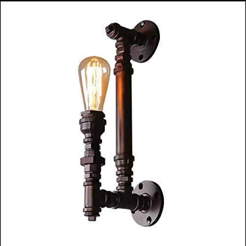 OUPPENG Moderna de Estilo Europeo Viento del tubo de agua lámpara de pared retro industrial simple de la personalidad creativa del restaurante del dormitorio pasillo Escalera del arte del hierro Lámpa