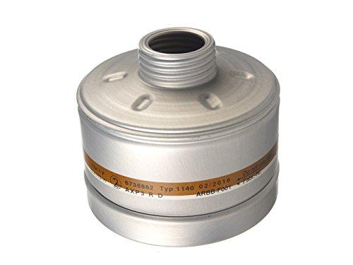 Dräger X-plore Kombinationsfilter 1140 AXP3 R D für Gas und Partikel (EN 14387) Qualitätsfilter für Masken mit Rundgewinde RD40 (EN 148-1)