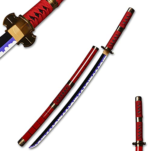 Anime Samurai Cosplay Sword:Roronoa Zoro Swords,Kitetsu,Wooden Blade...
