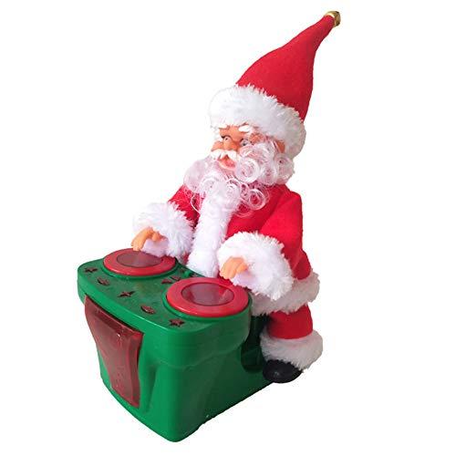 AzsfUfsa53 Christmas Doll Electric Christmas Santa Claus Drumming Music Playing Car Driving Xmas Ornament Christmas Supplies Decorations Green